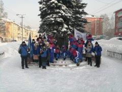 """Отряд """"Лёд и Пламя"""" кузбасского """"снежного десанта"""" приехал в Осинники"""