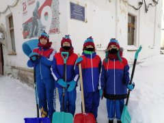 Снежный десант Кузбасса в поселке Тайжина