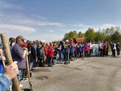 В поселке Тайжина состоялась акция «Сад памяти»