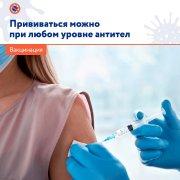 Вакцинация может проводиться при любом уровне антител
