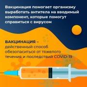 Вакцинация - это один из способов защиты от коронавирусной инфекции!