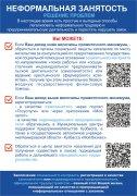 Макет информационного бюллетеня о негативных последствиях неформальной трудовой или предпринимательской деятельности