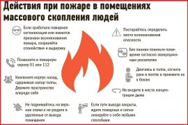 Пожар в общественном месте